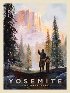 Anderson Design Group – American National Parks – Yosemite National Park: Yosemite Valley