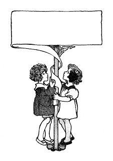 2 girls holding banner