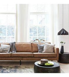 Leren bank Rodeo in cognac.nl Leren bank Rodeo in cognac. Furniture, Home, Oak Floor Living Room, Sofa, Living Room Carpet, Modern Rustic Decor, Leather Sofa, Living Room Leather, 3 Seater Sofa
