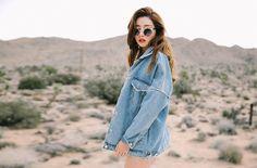 Light Wash Oversized Denim Jacket | Stylenanda