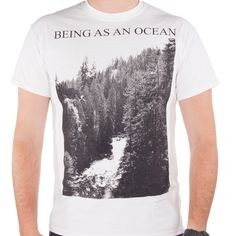"Being As An Ocean ""Mountains"" T-Shirt at http://www.indiemerchstore.com"