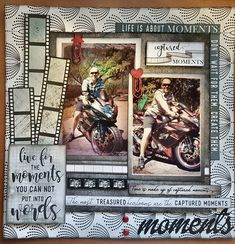 """Moments Layout """"Live for the moments you cannot put into words. Scrapbook Designs, Scrapbook Sketches, Scrapbook Page Layouts, Scrapbook Albums, Scrapbook Cards, Vacation Scrapbook, Disney Scrapbook, Bridal Shower Scrapbook, Recipe Scrapbook"""