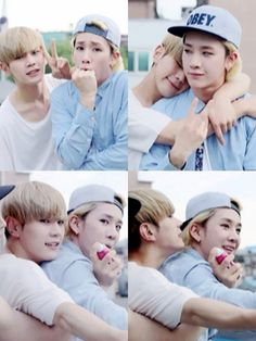 My two biases from this group in one picture they're so flipping cute!!!!