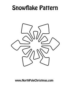 snowflake patterns use for crafts christmas clip art