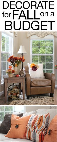 Decorate a whole room for fall beutifully on a $50 budget!