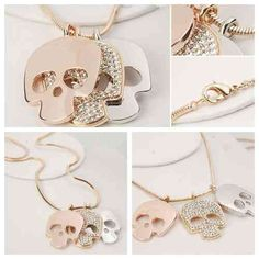I'm not a big skull person but this is pretty cute. I love the shade of pink with the sparkles