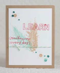 Design It Monday ~ {Learn Something New} -