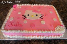 AJ's Cakes: Hello Kitty Sheet Cake