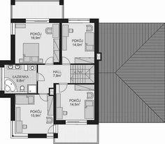 Projekt domu APS 274+2G 170,1 m2 - koszt budowy - EXTRADOM Floor Plans, Houses, Floor Plan Drawing, House Floor Plans