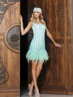 Mata Hari 2015 - Esta temporada Sonia Peña sigue siendo fiel a las plumas y la pedrería, una buena muestra de ello es este fabuloso #vestidodefiesta que os proponemos...
