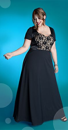Liv Gown in Onyx Perfect for the Holidays!  http://www.igigi.com/plus-size-dresses/liv-gown-in-onyx.html