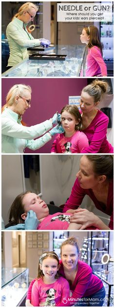 Needle or Gun - where should you get your kids ears pierced