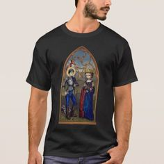 Saint George & Princess Sabra SHIRT dragon gothic - click/tap to personalize and buy