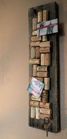 Wine Cork Bulletin Board // Get organized by ColoradoCorkCreative by etta