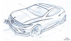 Freelance works on Behance - car sketches - Auto Car Design Sketch, Car Sketch, Mercedes Concept, Perspective Sketch, Free Artwork, Line Sketch, Industrial Design Sketch, Car Drawings, Sketch Inspiration