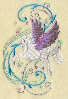 """Pegasus In Fancy Flight Fill (EL) 4.75""""(w) x 6.88""""(h) -- Own It"""