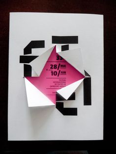 "33 FITEI Program Booklet (after ""unfolding"") — Global project by This is Pacifica via Behance"