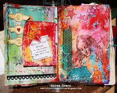 Little Honey Bee Studios: Art Journal - Dancing Stars