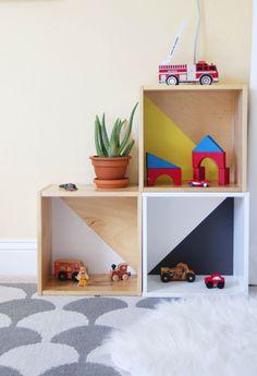 Nursery and DIY toy wall box storage
