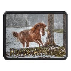 Cute Feisty Chestnut Ranch Horse Attitude Hitch Cover #Gift Idea for Horse-lovers.