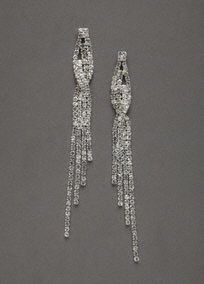 Add sparkle and shine to any special outfit with these gorgeous crystal shoulder duster earrings! These earrings are right on trend and will give you a gorgeous red carpet look.  Earrings feature uniquely designed twist detail for an extra dramatic look.  Imported.  Available in stores and online in Silver. Gold available online only.