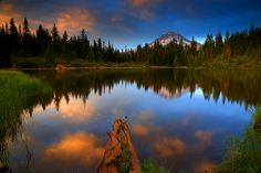Mt. Hood and Mirror Lake in The Mt. Hood National Forest Oregon by Randall J Hodges Photography