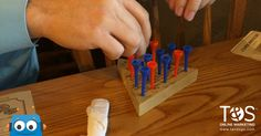 We love that Cracker Barrel branded their table games after T&S! I mean, who else uses blue and orange? Table Games, Oklahoma City, Online Marketing, Barrel, Orange, Blue, Board Games, Barrel Roll, Barrels