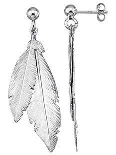 Feder-Ohrstecker Silber 925