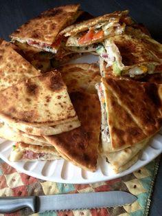 Greek Veggie Pita Quesadillas