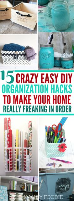These 15 Dollar Store Hacks are the best! I'm so happy that I found this organization ideas for the home, which helps me create organization diy products for my home.Now, I have home organization hacks that I can use. Definitely pinning this Dollar Store DIY home decor on a budget!