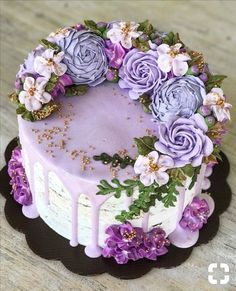 Easy Cake: – Cake …… – Famous Last Words Gorgeous Cakes, Pretty Cakes, Cute Cakes, Amazing Cakes, Bolo Floral, Floral Cake, Cake Boss, Floral Cupcakes, Cupcake Flower