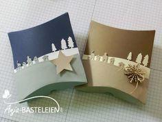 Pillow Box meets Schlittenfahrt – Videoanleitung | Anja-Basteleien