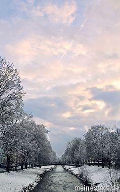 Tübingen - Tübingen Steinlach im Winter