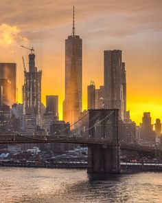 The Brooklyn Bridge and Lower Manhattan at sunset. #SeeYourCity, then share your…