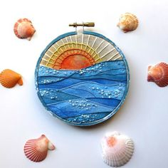 Bidding is underway at @candlesforkaylee! Head on over to throw your name in for this hoop and much much more!! #candlesforkaylee #creativelifehappylife #coastalliving #beachart #coastalcottage #nauticaldecor