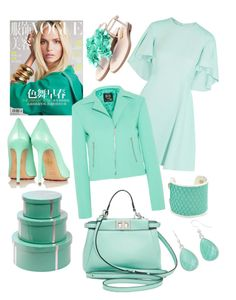 """Green #fashion#love#green#style"" by paola-de-fazio ❤ liked on Polyvore featuring Giambattista Valli, McQ by Alexander McQueen, Charlotte Olympia, Bungalow 5, Fendi, Rupert Sanderson, Taylor and Tessier and Liz Claiborne"