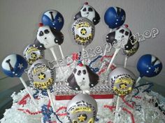 Police Cake Pops  Police Birthday Party  by TheMaDCakePopShop, $48.00