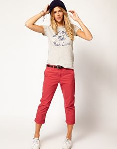 Denim & Supply By Ralph Lauren Boyfriend Capri Trousers in diff color.. T-shirt is nice too