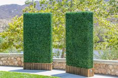 "Artificial Boxwood Hedge Panels...Concerned about the drought? We are! Especially here in CA, artifical greenery is on the rise due to our water shortage. Faux boxwood hedge panels requires zero maintenance and more importantly zero water! Jump on, the faux train, it's is leaving the station! Keep CA wonderfully ""green"" and alive looking! UV rated, no fading over time, what a deal!"