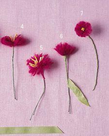 yarn flowers #flowers #crafts