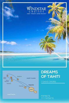 Boutique Cruise dreams of tahiti Vacation Trips, Dream Vacations, Vacation Spots, Bora Bora, Tahiti, Bigfoot Pictures, Society Islands, Yacht Cruises, Blue Skies
