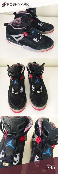 1042b1dafaeb34 Nike Jordan Black   Red Spizike Basketball Shoes Good condition Spiz ike  style shoes.