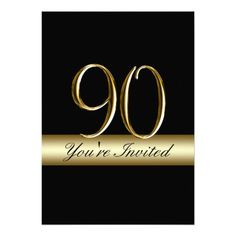DealsBlack Metal Gold Print 90th Birthday Invitationsin each seller & make purchase online for cheap. Choose the best price and best promotion as you thing Secure Checkout you can trust Buy best