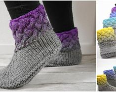 what a good feeling to come home . and put on your lovely and warm slippers. Relax and enjoy your quality time at home in your cozy slippers and just take it easy. You will get a 20 pages pattern, which explains how to knit your favorite slippers step Crochet Baby Hat Patterns, Braid Patterns, Crochet Baby Hats, Knitting Patterns, Knit Crochet, Knitting Socks, Baby Knitting, Double Pointed Knitting Needles, Etsy Embroidery