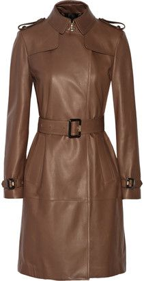Burberry Cullingham leather trench coat