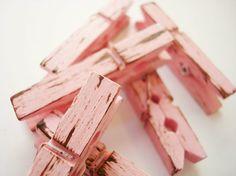 pink clothes pins