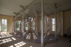 Inflatable Plastic Sculpture 'Breathes' Life Into Historic Architecture At Former Orangery