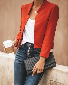 outfit with blazer Blazer Outfits Casual, Blazer Fashion, Fall Outfits, Cute Outfits, Fashion Outfits, Work Outfits, Dress Outfits, Business Outfits, Business Attire