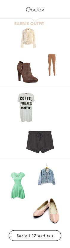 """""""Qoutev"""" by fashionablequeen368 on Polyvore featuring AG Adriano Goldschmied, Nine West, Topshop, Skin and LE3NO"""