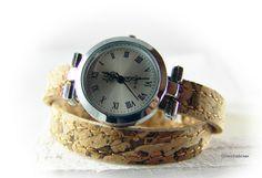 Damen Armbanduhr Wickelarmbanduhr Korkuhr von elfenstuebchen